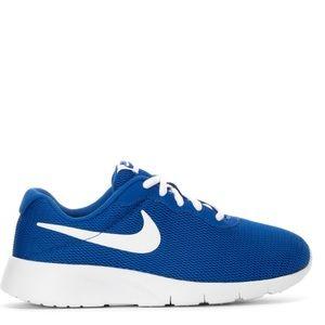 Nike tanjun womens royal blue white shoes